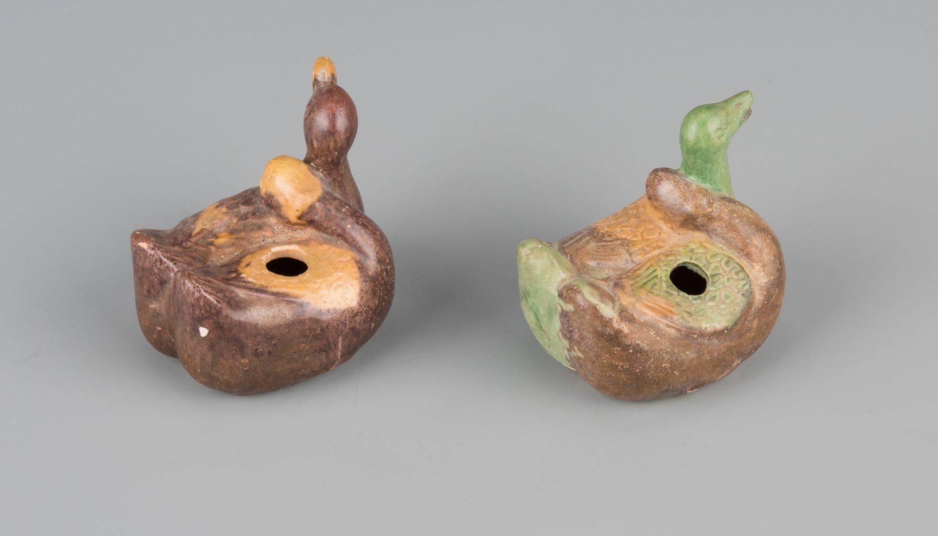 Lot 259: 4 Sancai Glaze Items