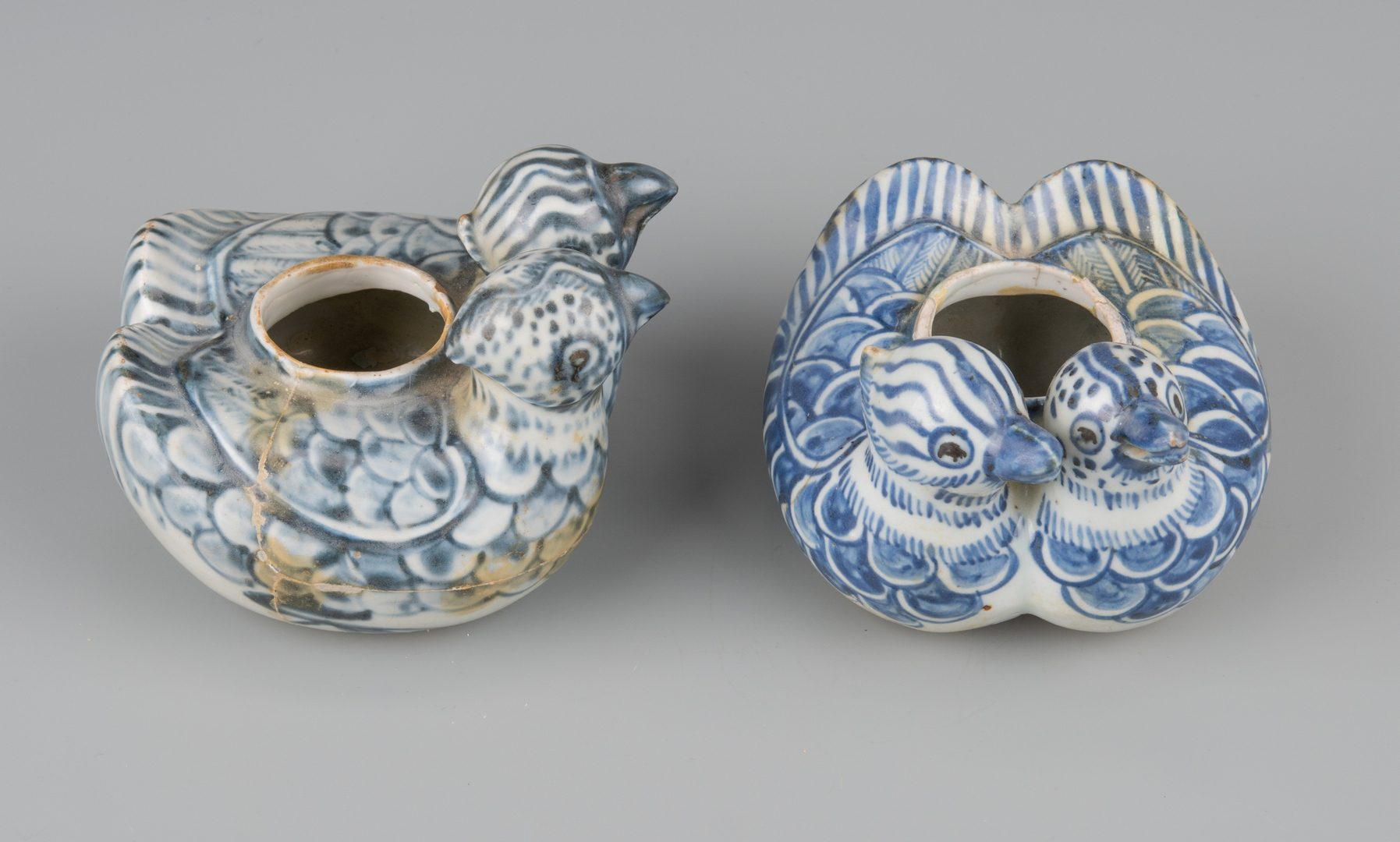Lot 260: 2 Ming Duck Form Water Droppers