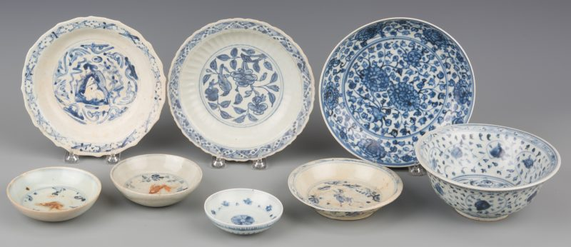 Lot 261: Asian Blue White Bowls inc Ming