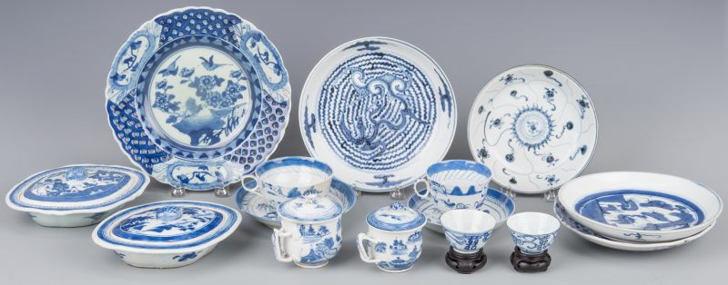 Lot 262: 15 pcs Canton Nanking porcelain