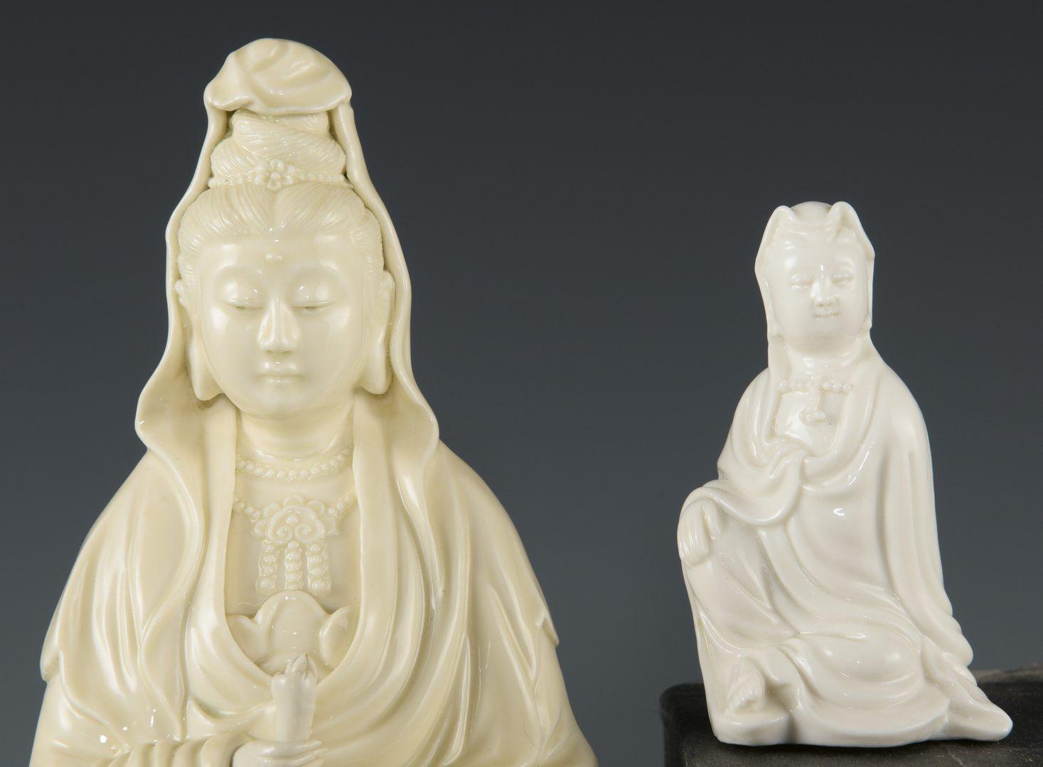 Lot 268: 4 Blanc de Chine Quan Yin Porcelain Figures