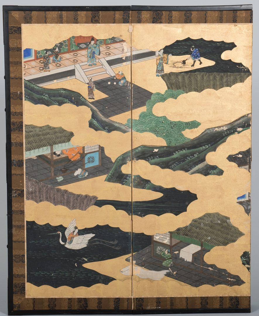 Lot 274: Japanese Gold Leaf Screen, Edo period
