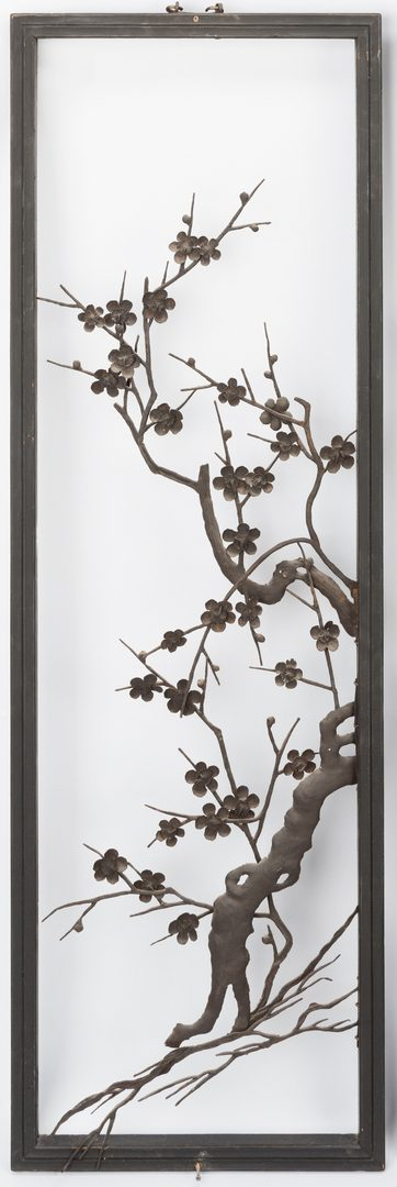Lot 277: Asian 4 Seasons Panels, Iron Floral Designs
