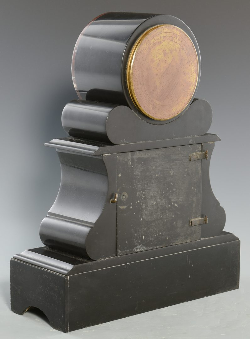Lot 278: Vincenti & Cie Slate and Marble Clock