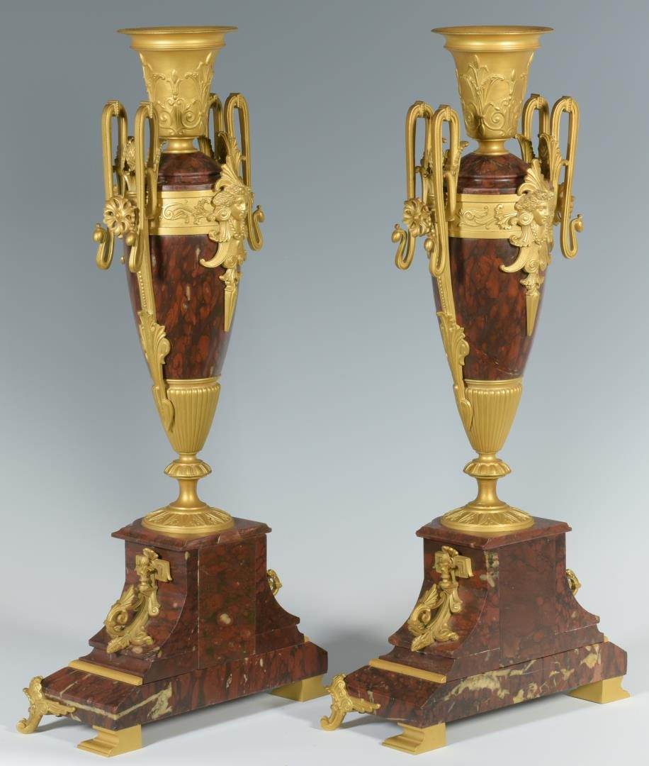 Lot 279: Pair Aesthetic Movement Urns