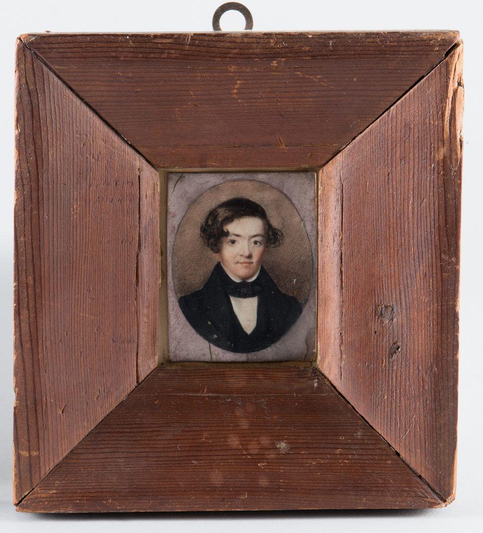 Lot 285: 2 Miniature Portraits of Gentlemen