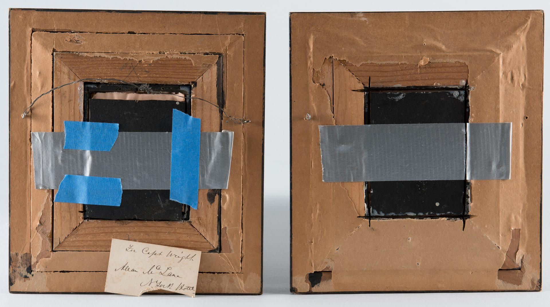 Lot 286: 2 miniature portraits related to Capt. Allen McLane
