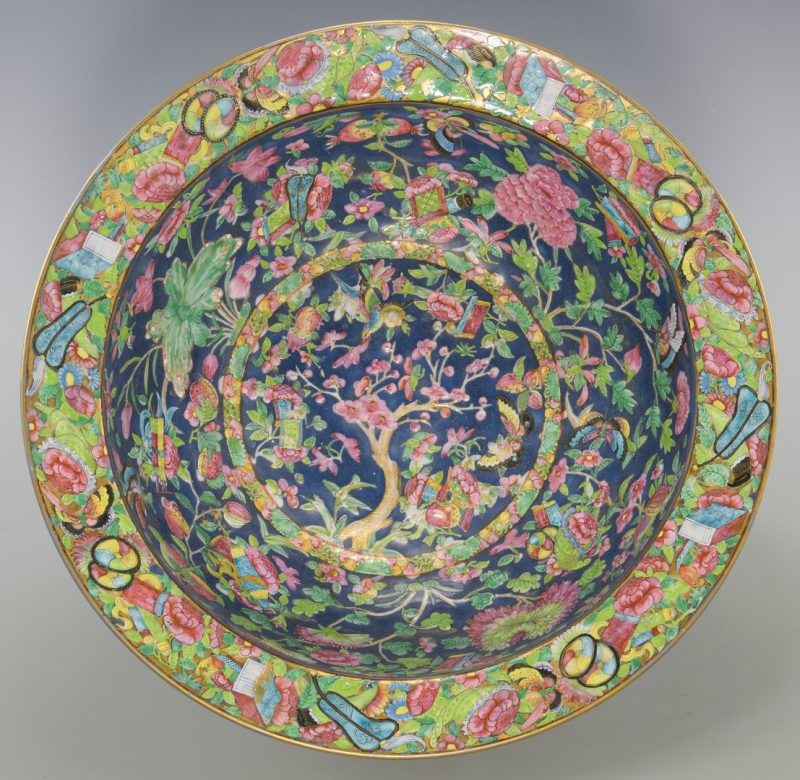 Lot 28: Large Chinese Famille Rose Enameled Bowl