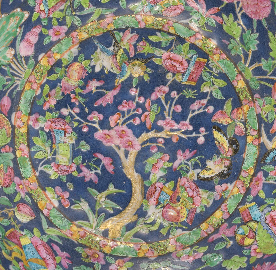 Lot 28: Large Chinese Famille Rose Enameled Bowl