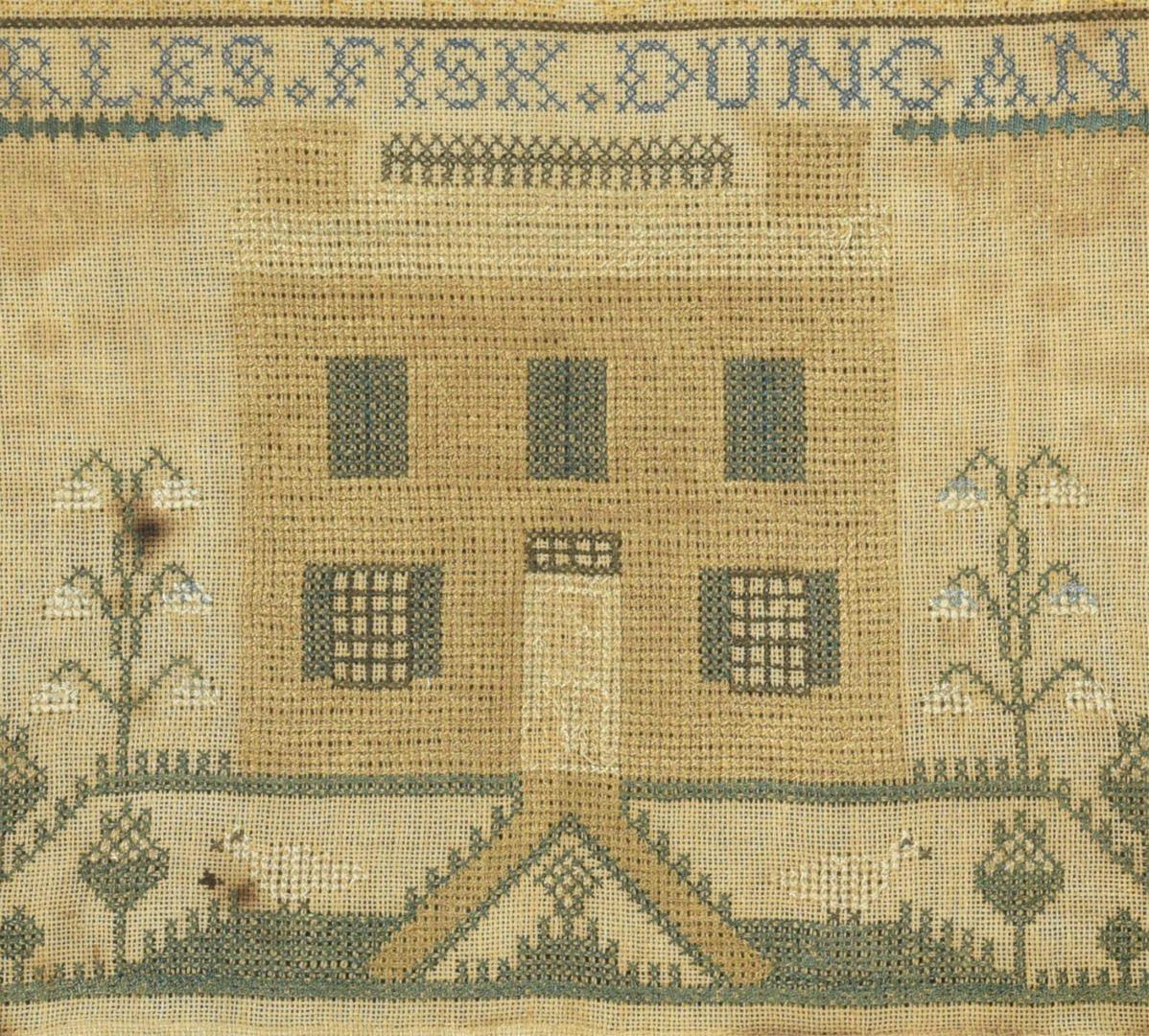 Lot 291: 2 Samplers incl. Virginia House Sampler