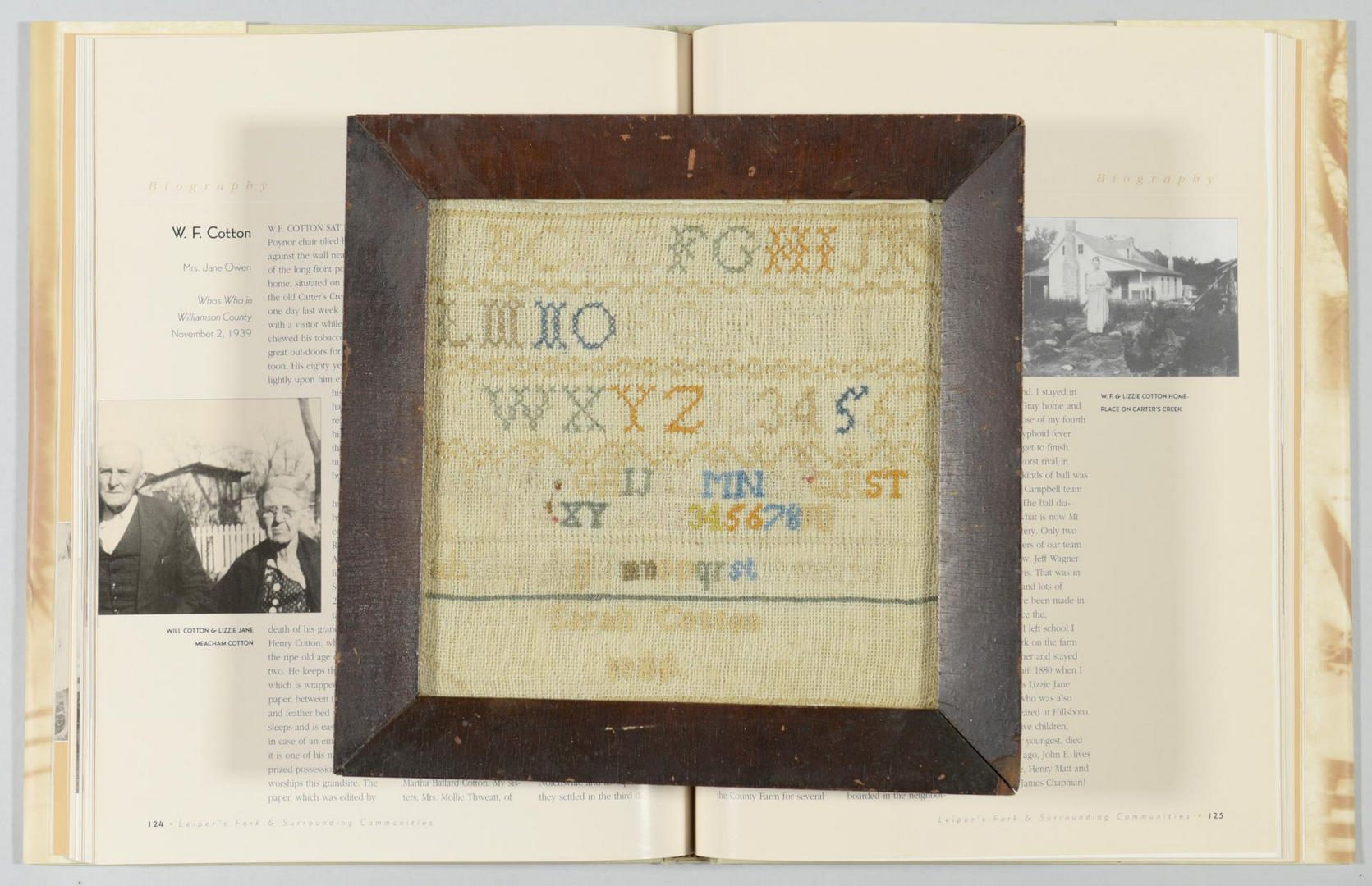 Lot 293: Williamson TN Sampler, Civil War era