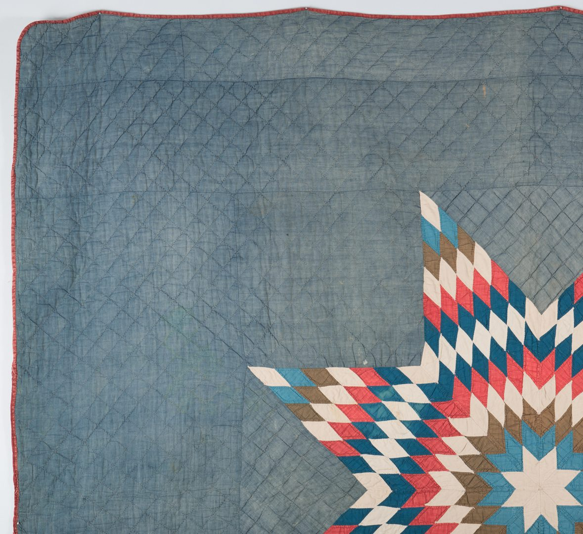 Lot 295: TN Civil War Lone Star Quilt
