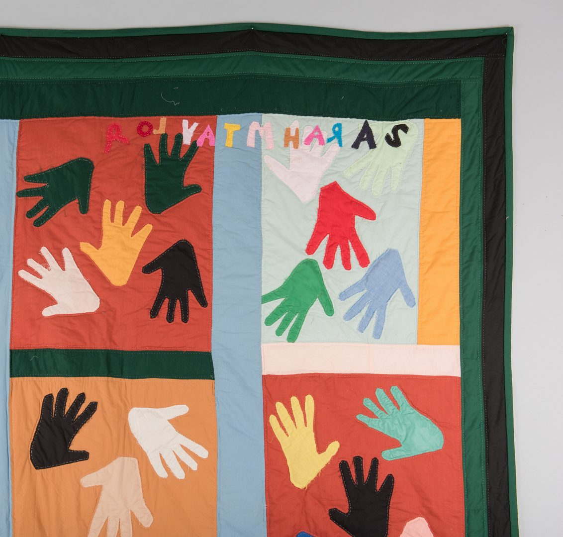 "Lot 298: Sarah Mary Taylor ""Hands"" Quilt"