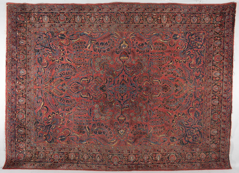 Lot 303: Semi-antique Persian Sarouk Carpet