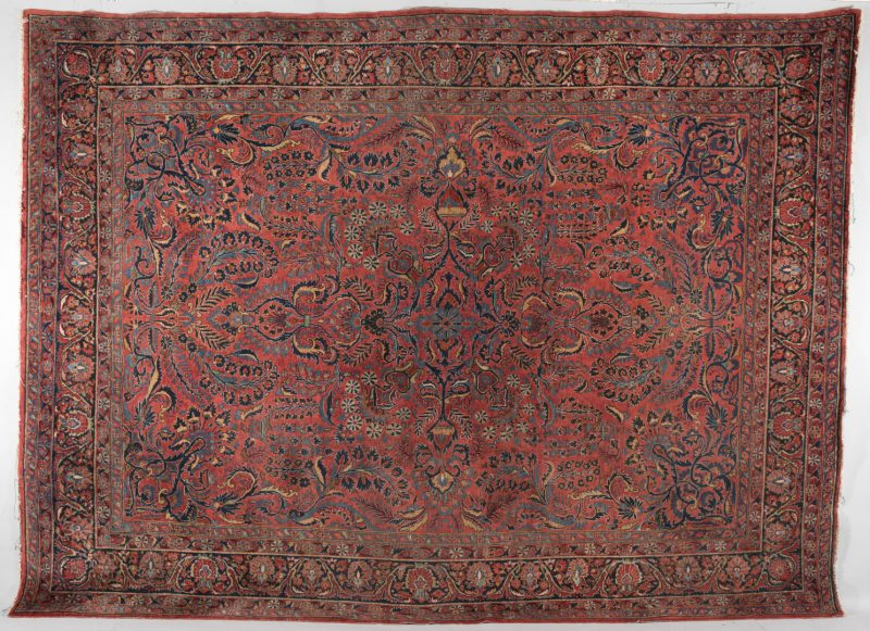 Lot 303: Semi-antique Persian Sarouk Carpet