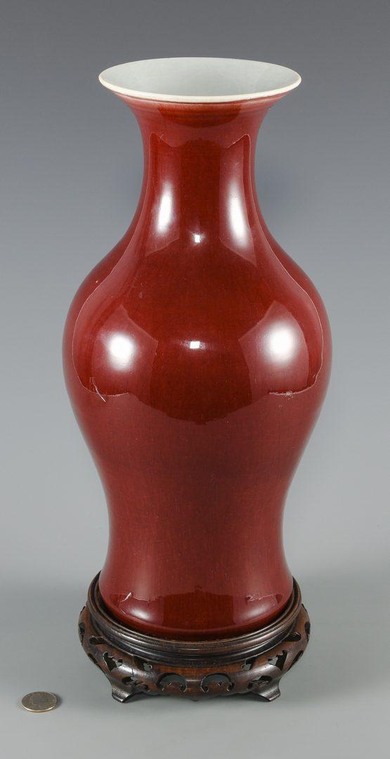 Lot 30: Chinese Sang-de-Boeuf Porcelain Vase