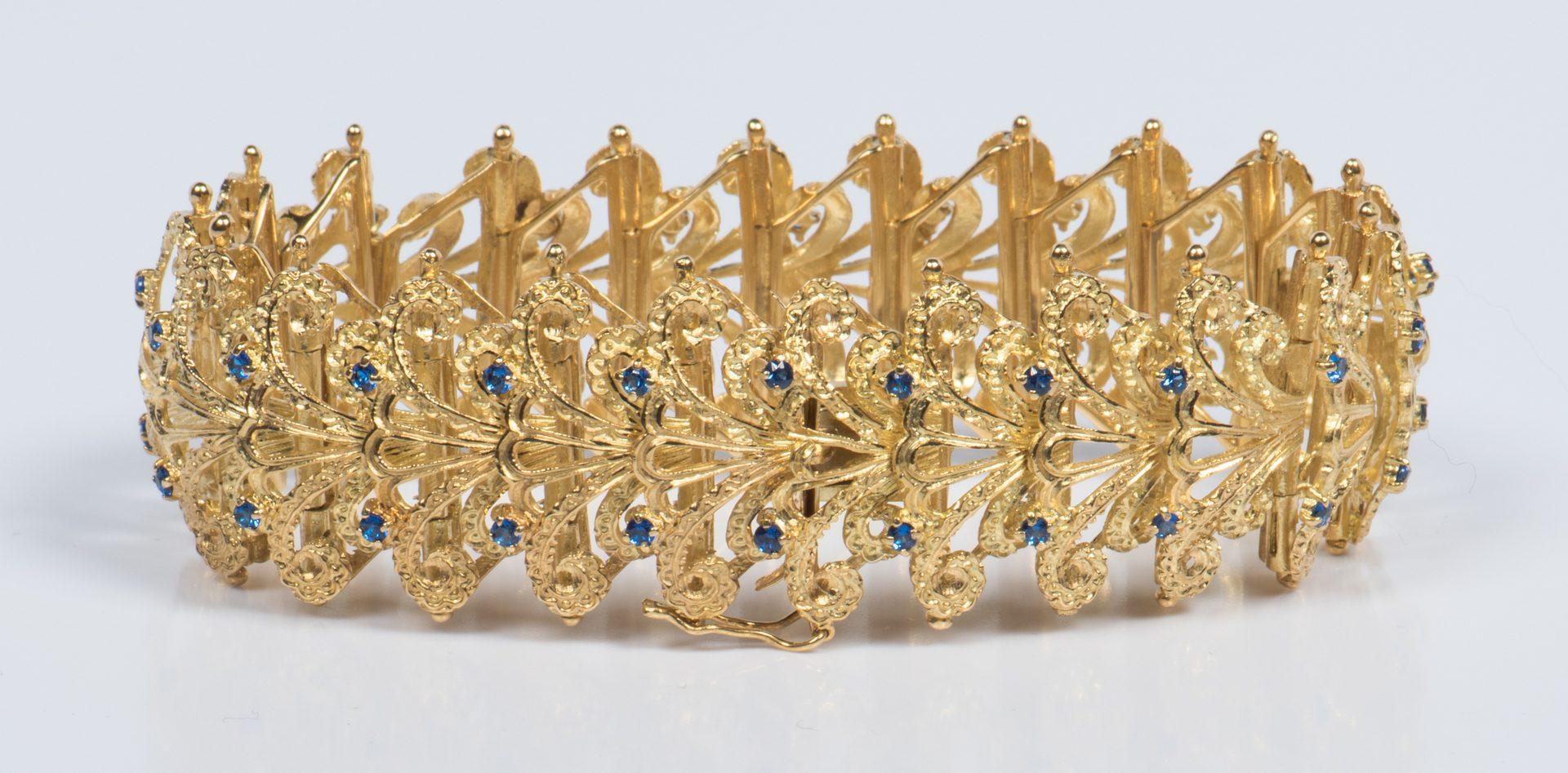 Lot 310: Brazilian 18K Link Bracelet