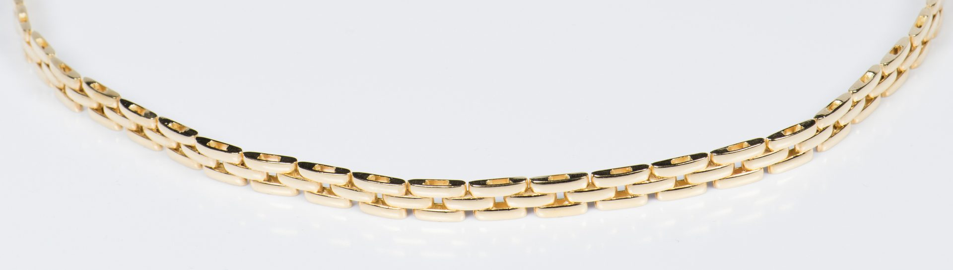 Lot 314: 18K Panther link Necklace, Italy