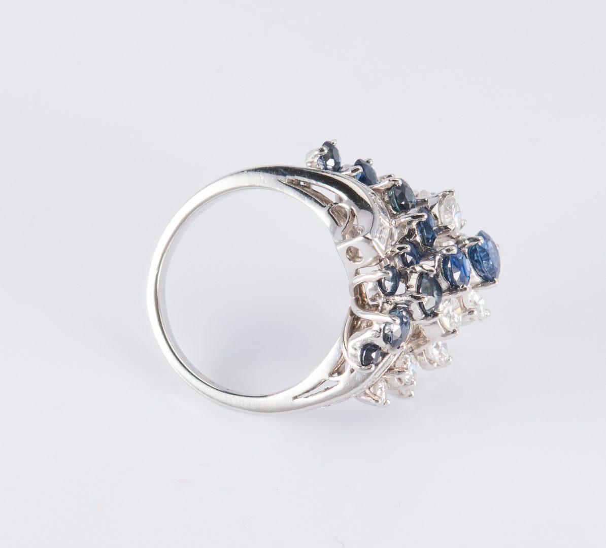 Lot 316: Platinum, Diamond, Sapphire Ring