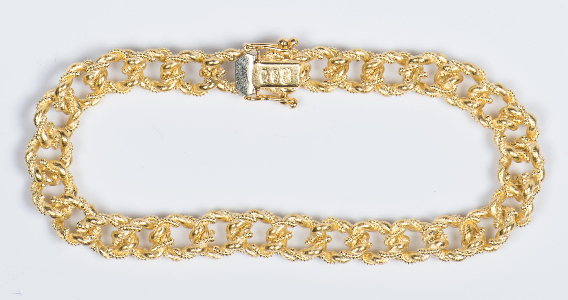 Lot 317: 18K Italian Gold Link Bracelet