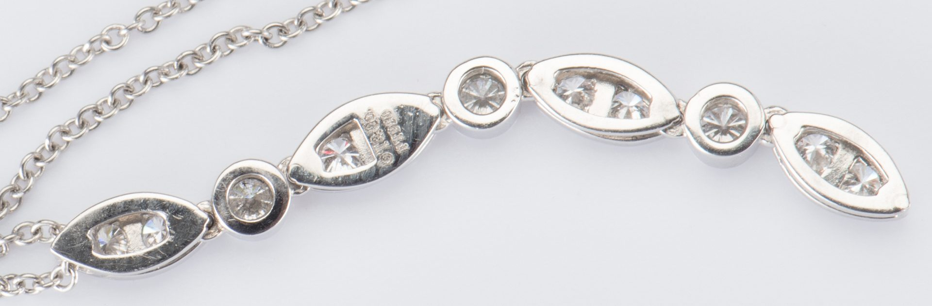 Lot 318: Tiffany Designer Plat Diamond Necklace