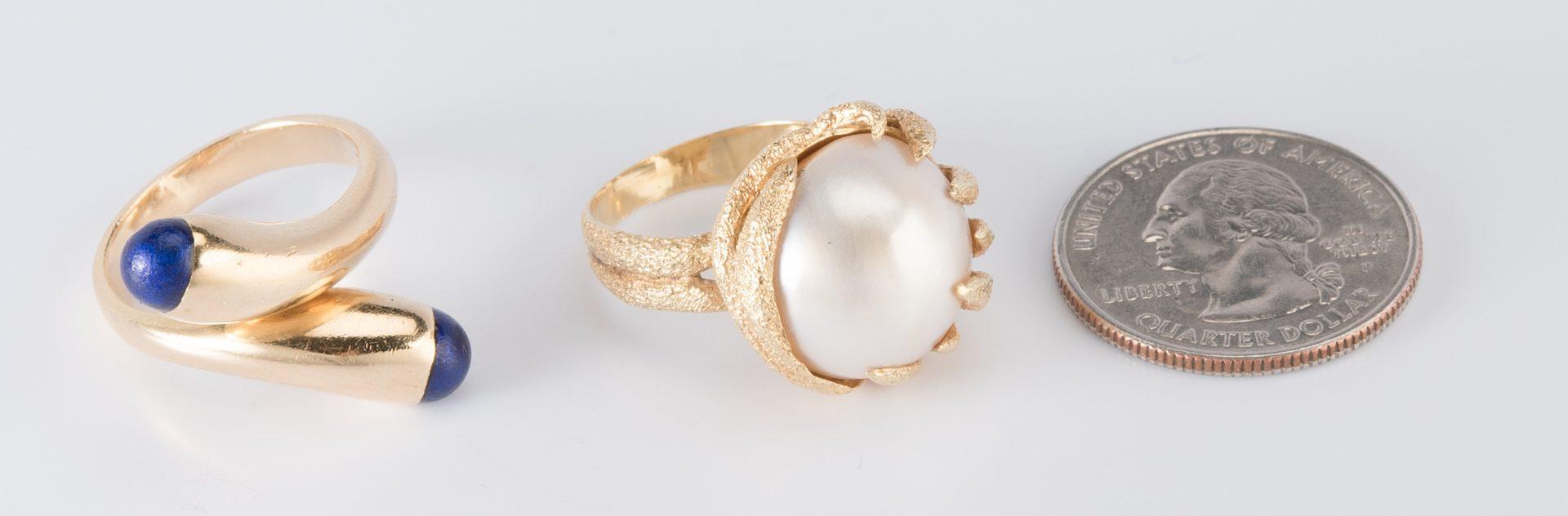 Lot 321: Two 18K Fashion Rings