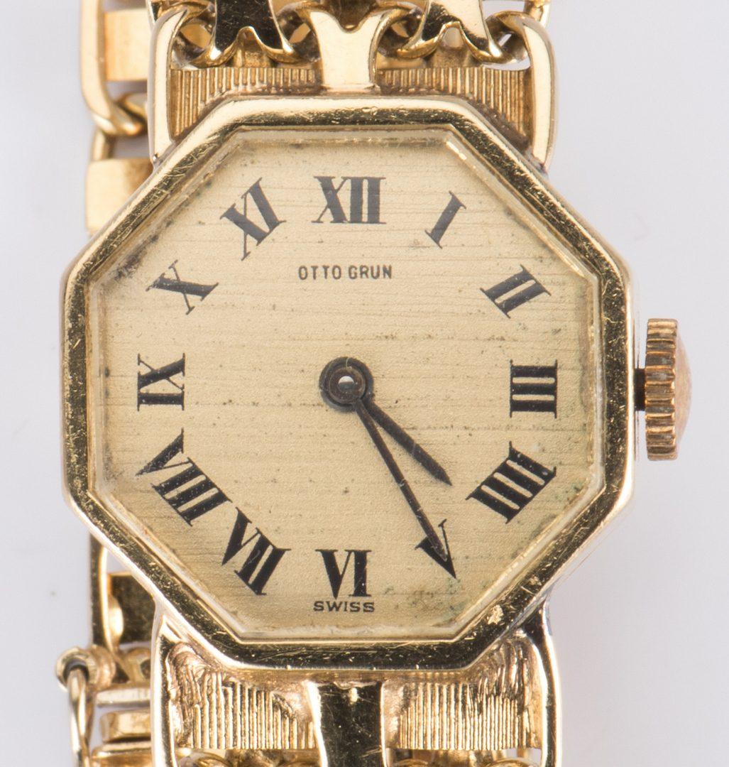 Lot 329: 18K Otto Grun Wristwatch
