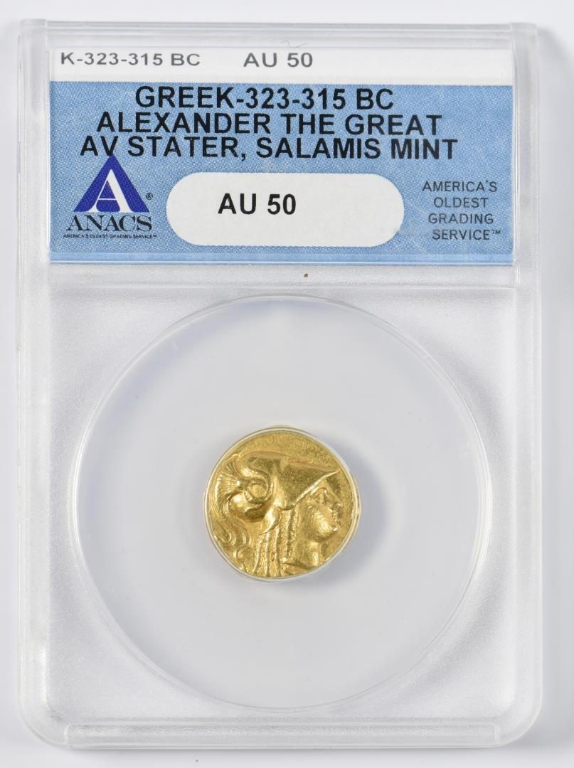 Lot 331: Alexander the Great AV Stater Coin, Salamis Mint