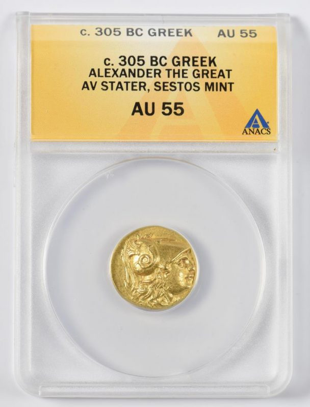Lot 332: Alexander the Great AV Stater Coin, Sestos Mint
