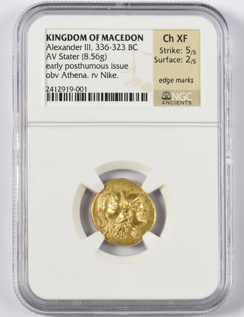 Lot 340: Alexander III AV Stater, Early Posthumus Issue