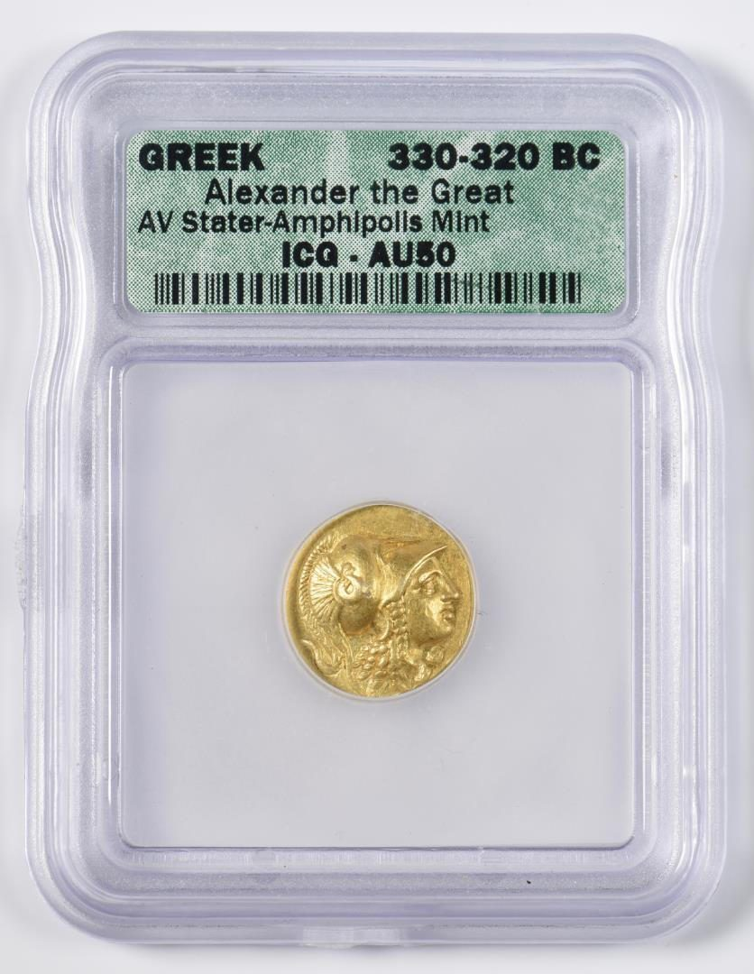 Lot 343: Alexander the Great AV Stater Coin, Amphlpolls Mint