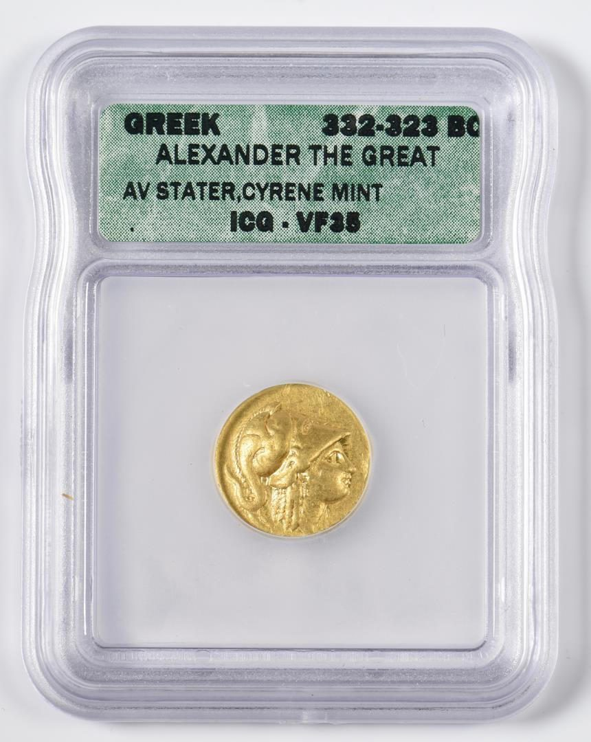 Lot 344: Alexander the Great AV Stater Coin, Cyrene Mint