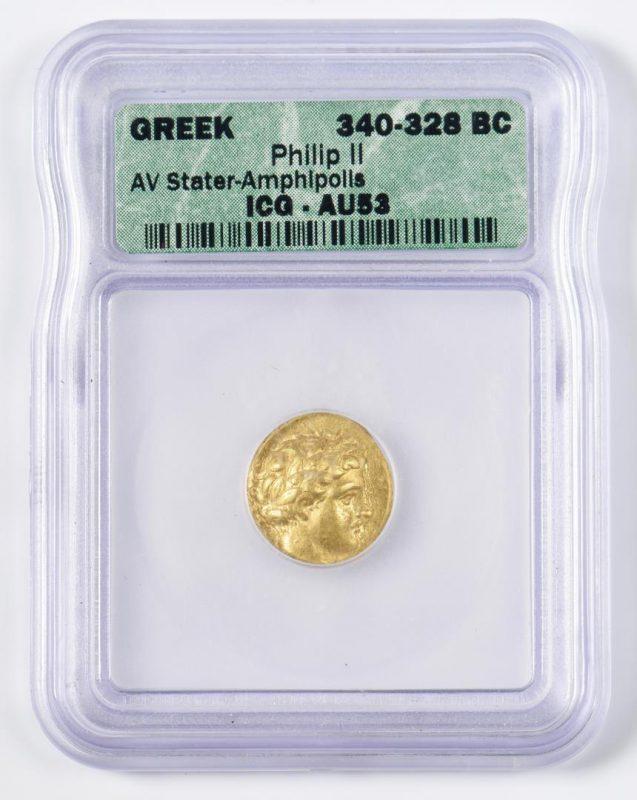 Lot 347: Philip II AV Stater, Amphipolis Mint