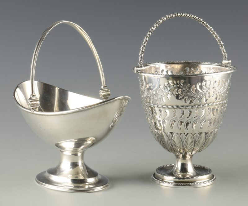 Lot 354: 2 Silver Baskets inc. Early Tiffany
