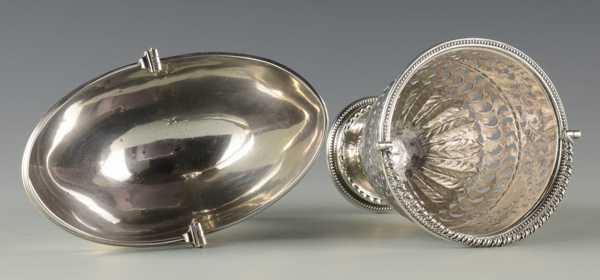 Lot 354: 2 Silver Baskets inc. Early Tiffany