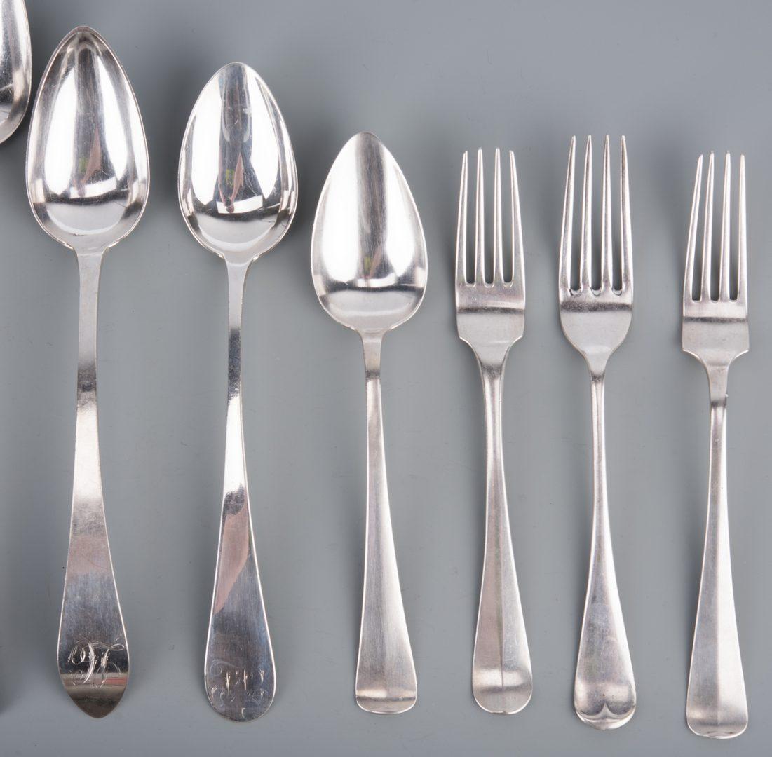 Lot 357: Assd. Silver inc. Federal Serving Spoons, 19 pcs