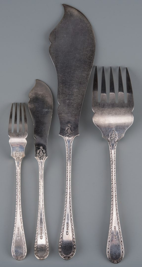 Lot 360: Sterling Fish Set, Svc. for 12