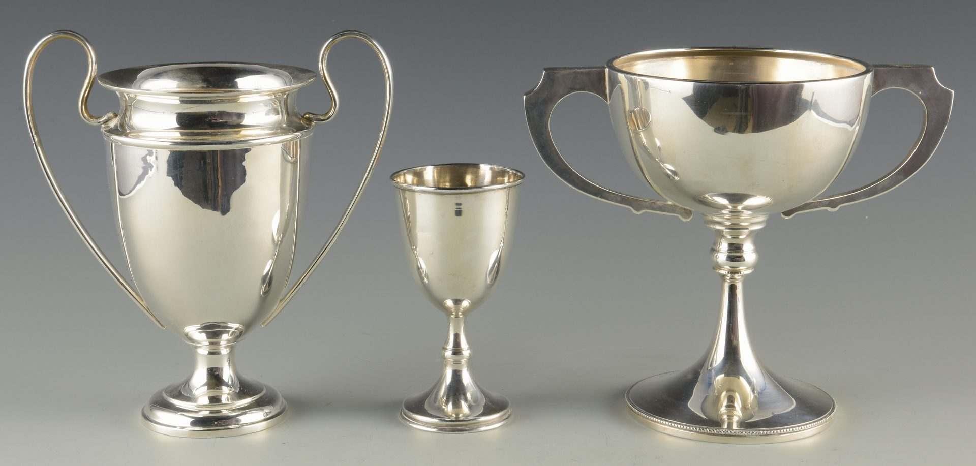 Lot 363: 3 Sterling cups inc. Trophy Cups