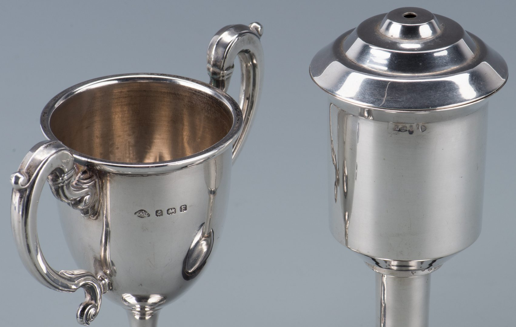 Lot 364: 6 Golf Trophies and small plate