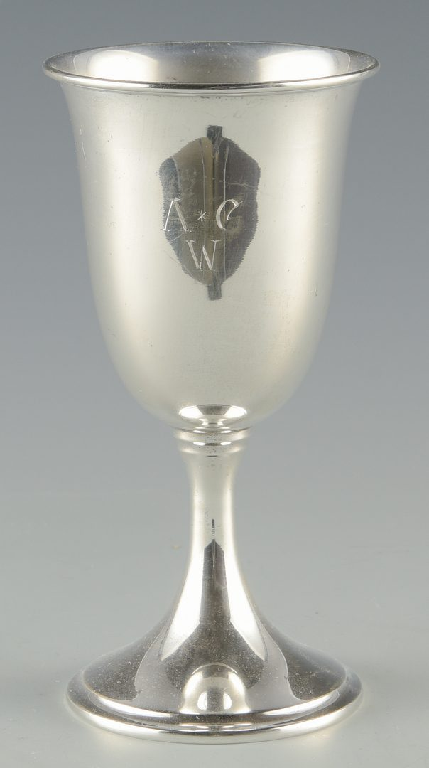 Lot 366: Set of 8 Kirk Sterling Goblets