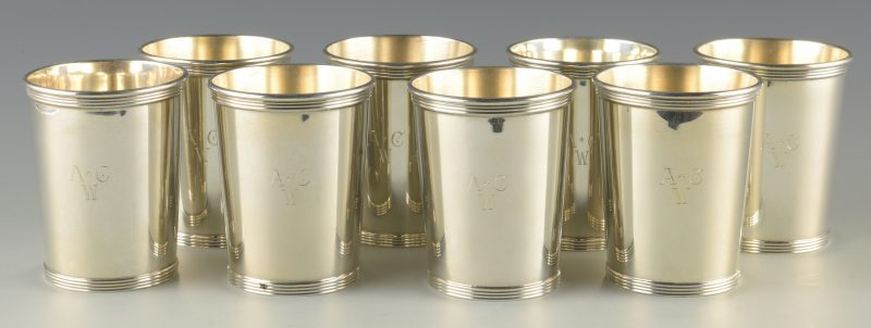Lot 367: 8 Sterling Julep Cups