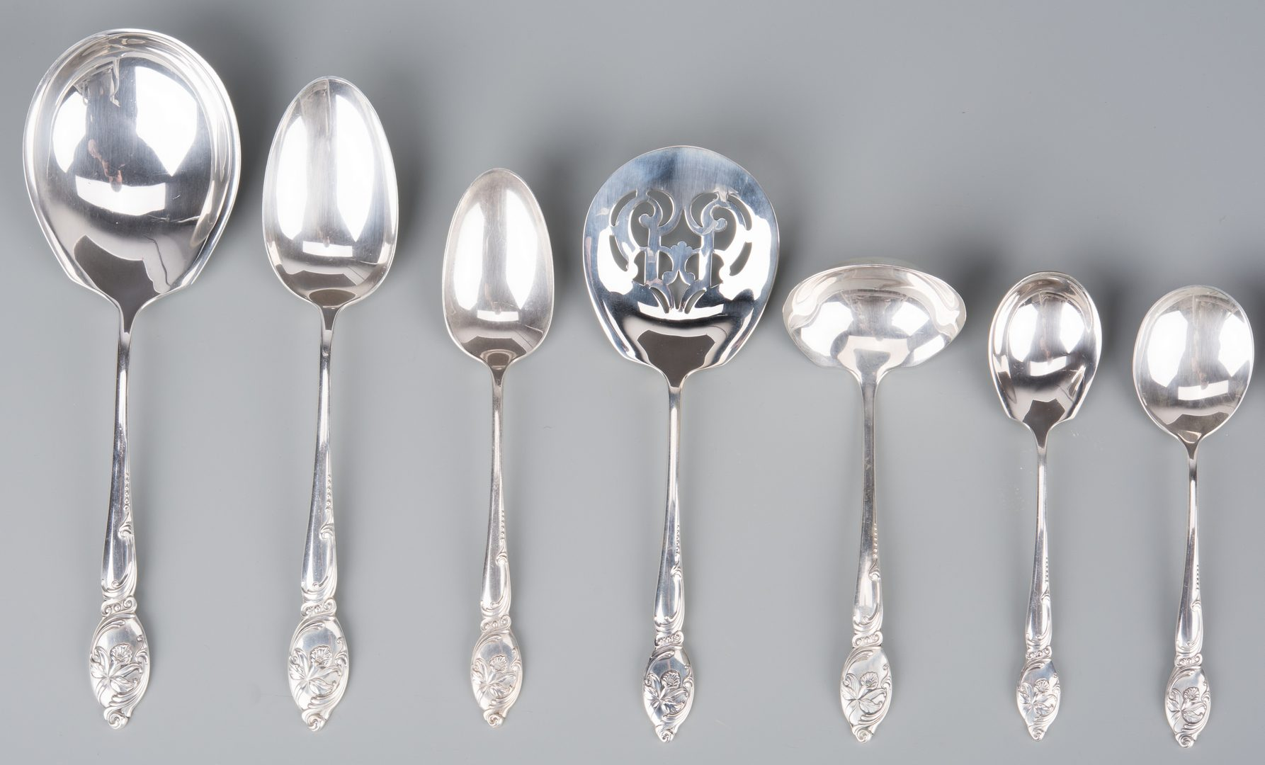 Westmorland Enchanting Orchid Cream Soup Spoon Sterling Silver Flatware