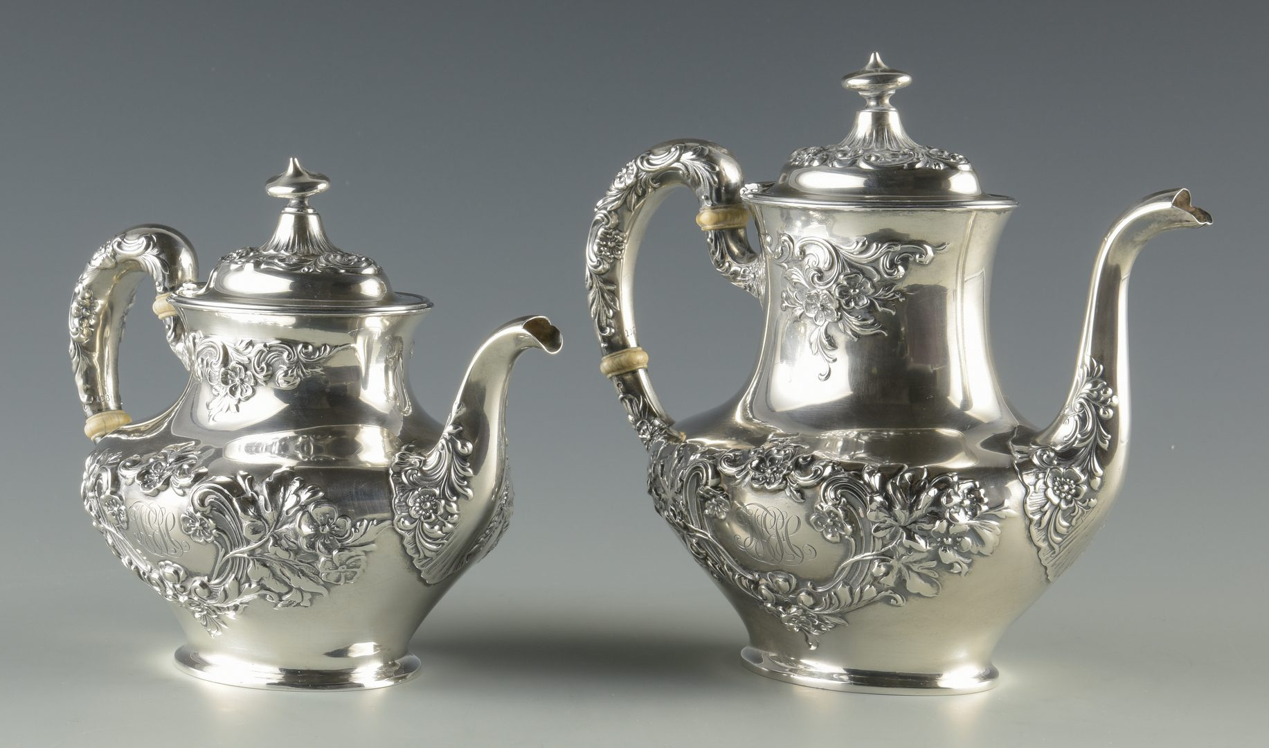 Lot 377: Gorham Buttercup 5 pc Sterling Tea Service