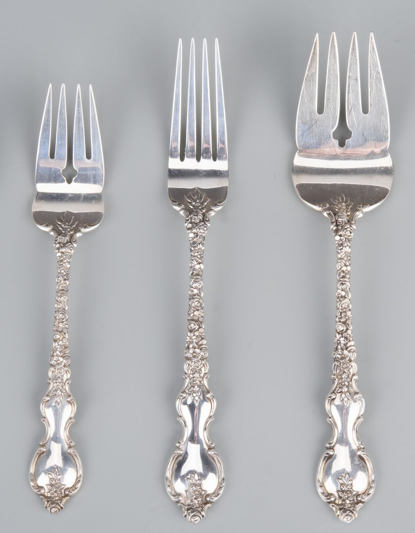 Lot 379: International Sterling Du Barry Flatware