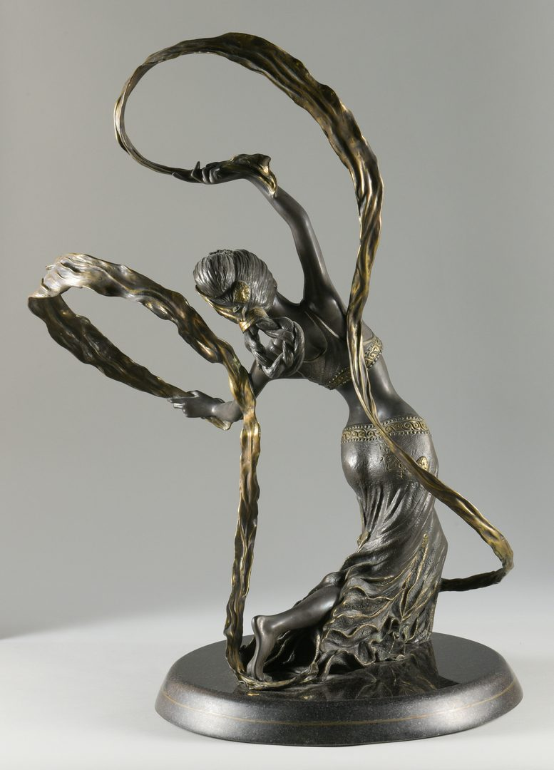 Lot 37: Bronze Ribbon Dancer Sculpture, Jiang Tie-feng