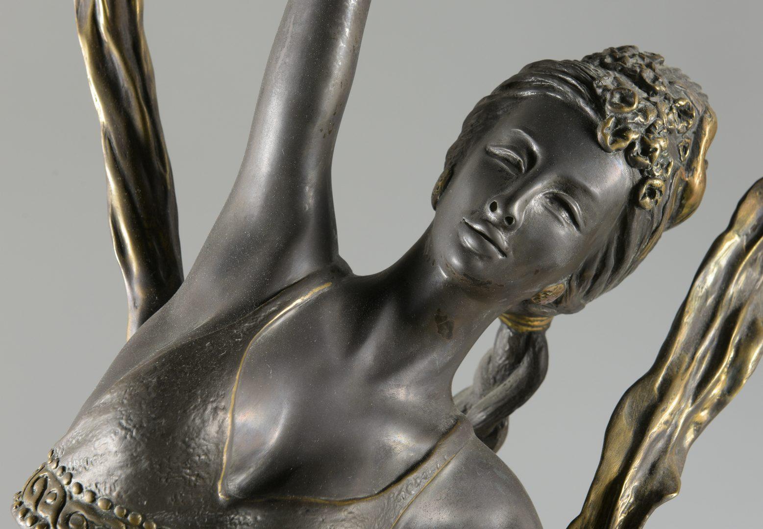 Lot 37: Bronze Ribbon Dancer Sculpture, Jiang Tie-feng