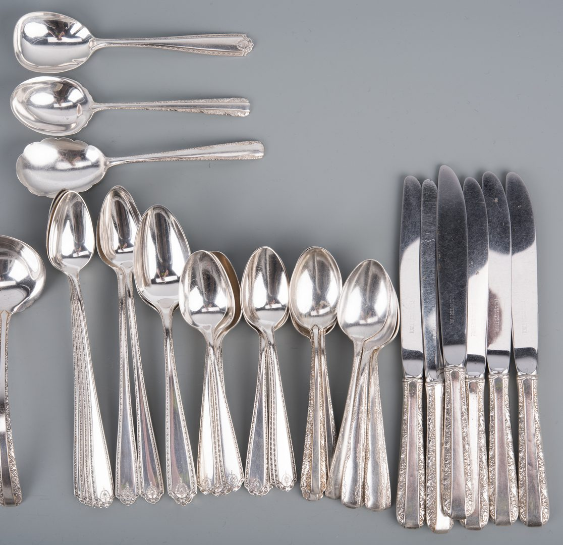 Lot 381: 3 Sets Similar Sterling Patterns