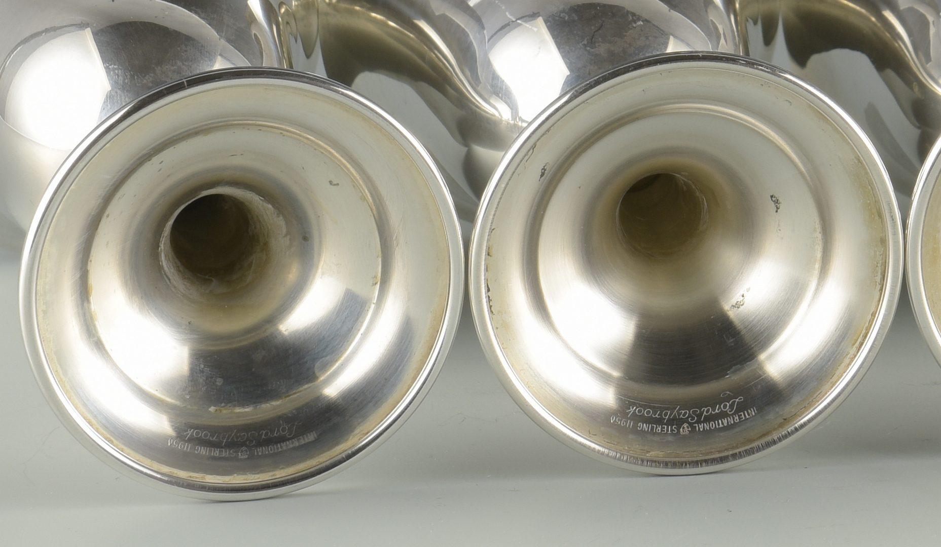 Lot 382: 12 International Sterling Silver Goblets