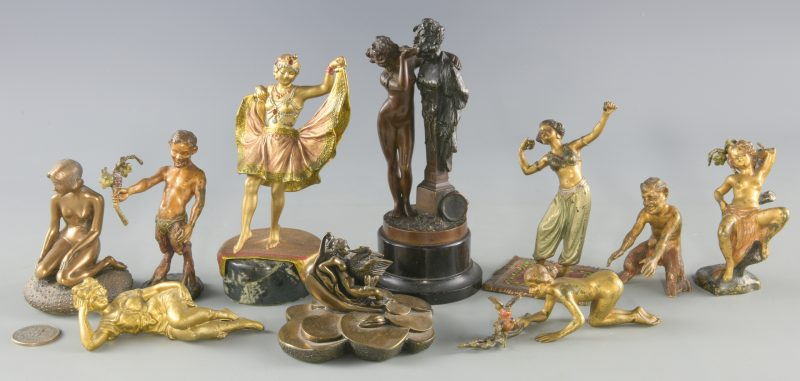 Lot 383: 10 Miniature Bronzes inc. Bergman