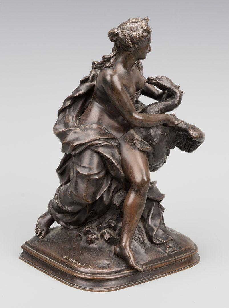 Lot 384: Vauvray Bronze, Leda & Swan